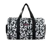 Jacki Design Chic Charm Duffel Travel Bag White