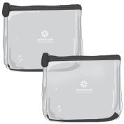 TSA Approved Clear Travel Toiletry Bags (Bundle of 2) - 2 Black Clear Toiletry Bags - Super Durable, Heavy Duty Zipper & Material