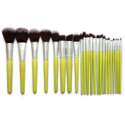 Cool7 Makeup Brushes Set, 23PC Green Bamboo Advanced Brush Cosmetic Makeup Brush Set