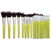 Cool7 Makeup Brushes Set, 23PC Green Bamboo Advanced Brush Cosmetic Makeup Brush Set