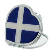 Scotland Patriotic Compact Heart Shape Mirror SC1386