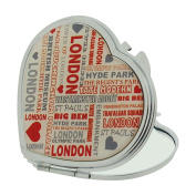London Tourist Streets Attraction Compact Heart Shape Mirror SC1385