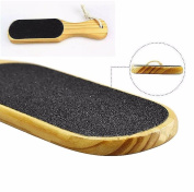 1 Set Stylish Popular Double Sided Foot Rasp Shower Clean Pedicure Tool Easy to Wash Type Wooden