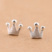 Authentic sterling silver crown earring