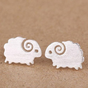 925 sterling silver stud earring goat jewellery