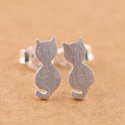 earring silver cat stud earring jewellery