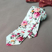 100% Cotton Ties For Men Suits Necktie Party Ties Vintage Printed Floral 013