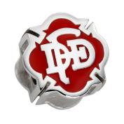 Dallas Fire Rescue Charm (DFD) - Sterling Silver - Fits Pandora Bracelet