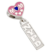New York City Police Department (NYPD) Mom Charm - Fits Pandora Bracelet - Sterling Silver
