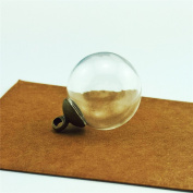 10pcs 20mm hollow clear glass ball mini glass dome globe bottle vial pendant charms,8mm cap include