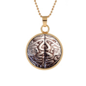 HelloHa Art Brain pattern necklace Long Chain Women Pendant Necklace Vintage Charm Necklace . Brain pattern necklace Glass Necklace Jewellery