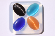 Clear-silicone jewellery Oval Cabochon 30X20mm, 4 pc.Good for pendant,earrings,bracelet,art,craft.