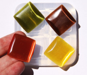 Clear-silicone jewellery square Cabochon 25X25mm, 4 pc.Good for pendant,earrings,bracelet,art,craft