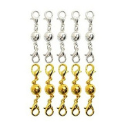 ULTNICE Ball Tone Magnetic Lobster Clasps for Necklace Bracelet - 10pcs