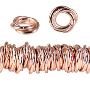 10mm Rose Gold plated Copper Plain Mobius Spacer Bead 8 inch 84 pcs