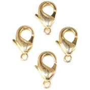 23mm 22kt Gold plated Lobster Clasp Set of 4