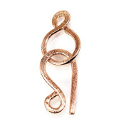 30x14mm Rose Gold plated Silver Hook and Eye Clasp 1 piece Brushed
