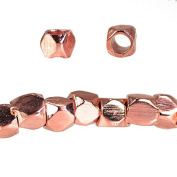 2mm Rose Gold plated Copper Hand Polished Faceted Nugget Beads 90 pieces