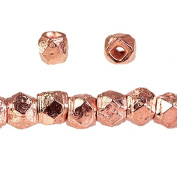 3mm Rose Gold plated Copper Faceted Nugget Beads 8 inch 75 pieces