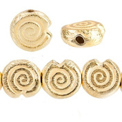 10mm 22kt Gold plated Copper Spiral Beads 21 pieces