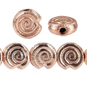 10mm Rose Gold plated Copper Spiral Beads 21 pieces
