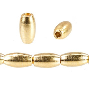 3mm 22kt gold plated Copper Plain Rice Beads 33 pieces
