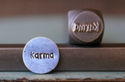 "Brand New Supply Guy 8mm ""Karma"" Word Metal Punch Design Stamp CH-94"