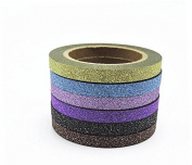 Glitter Washi Tape Set Japanese Stationery Scrapbooking Decorative Tapes Adhesive Tape Kawai Fita Adesiva Decorativa