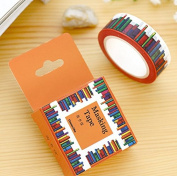Wide Amazing Library Books Washi Tape DIY Scrapbooking Sticker Label Masking Tape School Office Supply