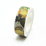 New Printing Washi Tape Office Adhesive Scrapbooking Tools Kawaii Decorative Great Christmas Cute Craft Gift Pineapple