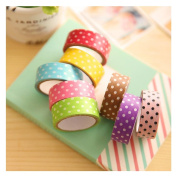 Kemilove 8Pcs DIY Cute Cartoon Tape Sticker Paper Dots for Scrapbooking Decoration