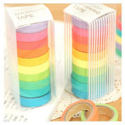 Kemilove 10x Washi Sticky Paper Masking Adhesive Decorative Tape Scrapbooking