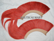 Red Colour Natural Horse Hair Plume ( SET OF TWO) BY NAUTICALMART
