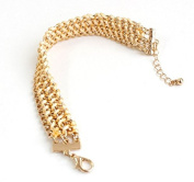 mywaxberry golden alloy dress accessory tiara ring metal woven bracelet