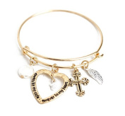 mywaxberry golden alloy dress accessory tiara ring bracelet, love heart+cross