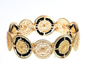 mywaxberry 18K gold plated dress accessory tiara chain ring beads bracelet
