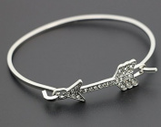 mywaxberry silver dress accessory tiara ring metal hollow bohemia bracelet, diamonds arrow