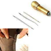 Wrisky Leather Tent Canvas Sewing Awl Hand Stitcher Taper Leathercraft Needle Kit Tool