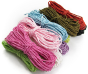 ALL in ONE 10 Colour 50 Yards Twisted Paper Craft String/Cord/Rope
