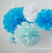 Sorive® 5pcs 2 Sizes Tissue Paper Flowers,Tissue Paper Pom Poms,Wedding Party Decor,Pom Pom Flowers,Tissue Paper Flowers Kit,Pom Poms Craft,Wedding Pom Poms-Sorive