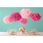 Sorive® 5pcs 2 Sizes Tissue Paper Flowers,Tissue Paper Pom Poms,Wedding Party Decor,Pom Pom Flowers,Tissue Paper Flowers Kit, Pom Poms Craft,Pom Poms Decoration-Sorive
