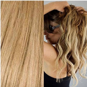 Noelle Crown Hair Extensions European Remy Human Hair Clip In Weft Includes FREE Shampoo & ConditionerASH BLONDE)