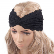 Voberry® Women Headwear Twist Sport Yoga Lace Headband Turban Headscarf Wrap