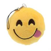 Sankuwen 1pc Emoji Emoticon Soft Key Chain Bag Pendant Funny Gift