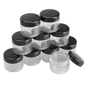 20ml Plastic Black Cap Lips Cosmetic Cream Containers Jars Empty Storage Bottle