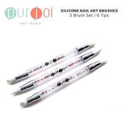 6-Tip Silicone Art Brushes Nail Art Tools Silicone Brushes Gel Acrylic Brushes