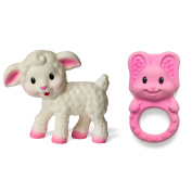 Infantino Squeeze and Teethe Pals, Lamb and Bunny