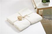 "Kpblis ®100% Cotton Throw Best Knitting Blanket Just for Baby Kids 43""*47""(110 x 120cm) White"