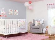 New Baby Girl Flower Garden 7pcs Crib Cot Bedding Set