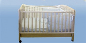 Crib Netting, Universal Size, Netting for Cribs and Baby Beds, Weather and Insect Protection, Mesh, White, Cover